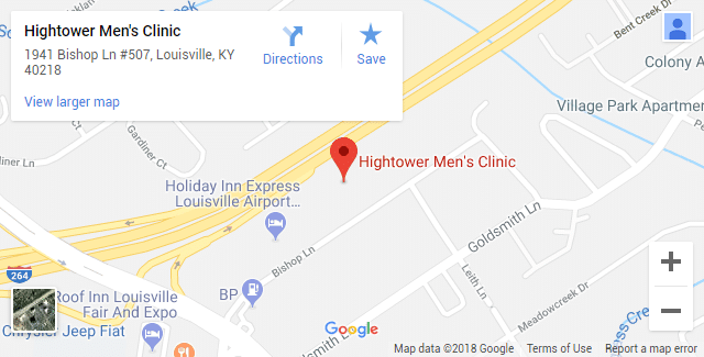 Louisville KY Erectile Dysfunction Clinic Map